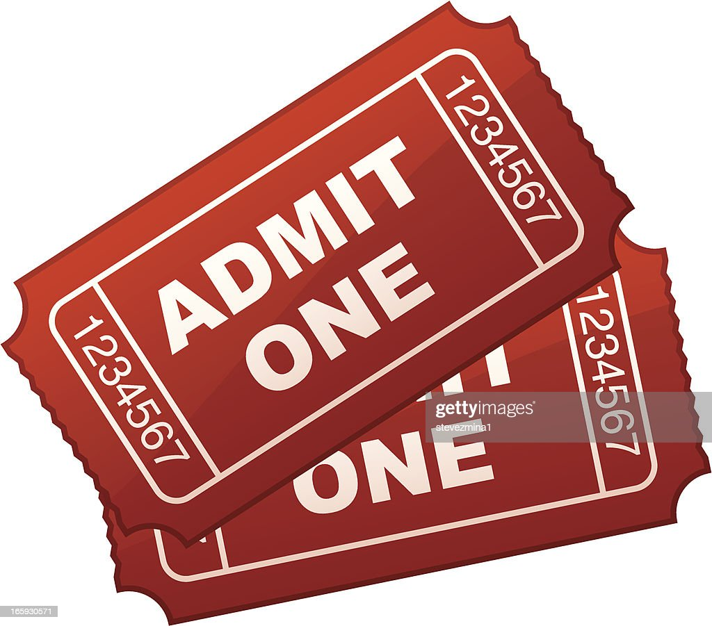 Graphic design of two general-use admission tickets