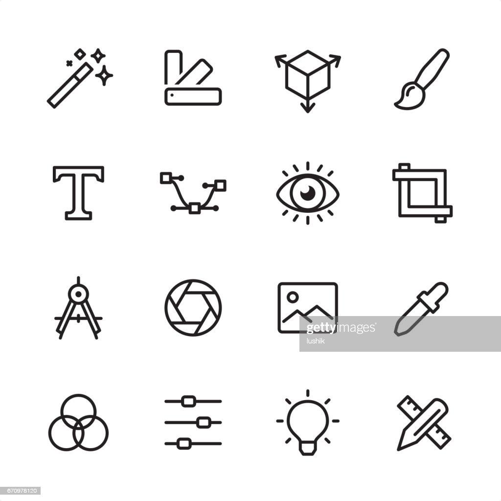 Graphisme - jeu d'icônes : Illustration