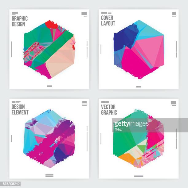 graphic design poster template minimal abstract futuristic background - magazine cover stock illustrations