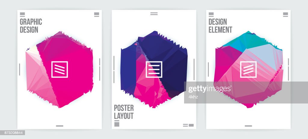 Graphic Design Poster Template Minimal Abstract Futuristic Background : stock illustration