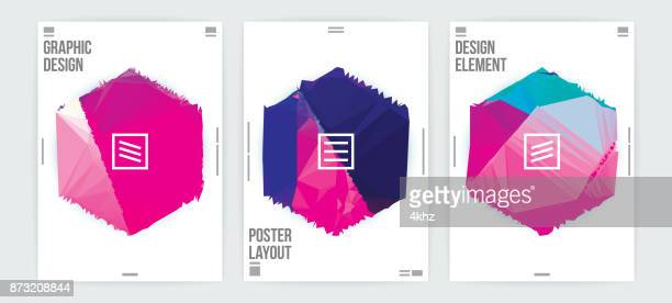 graphic design poster template minimal abstract futuristic background - printout stock illustrations
