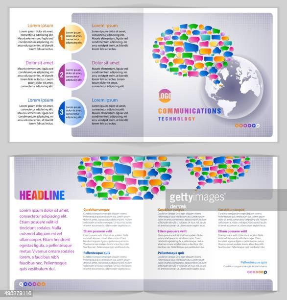 Modèle de conception graphique et de la technologie des Communications.