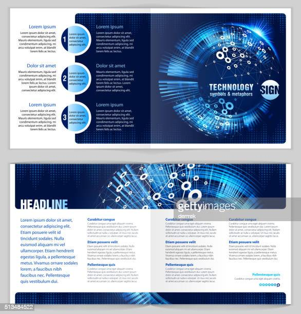 Graphic Design Template 'Communications technology'