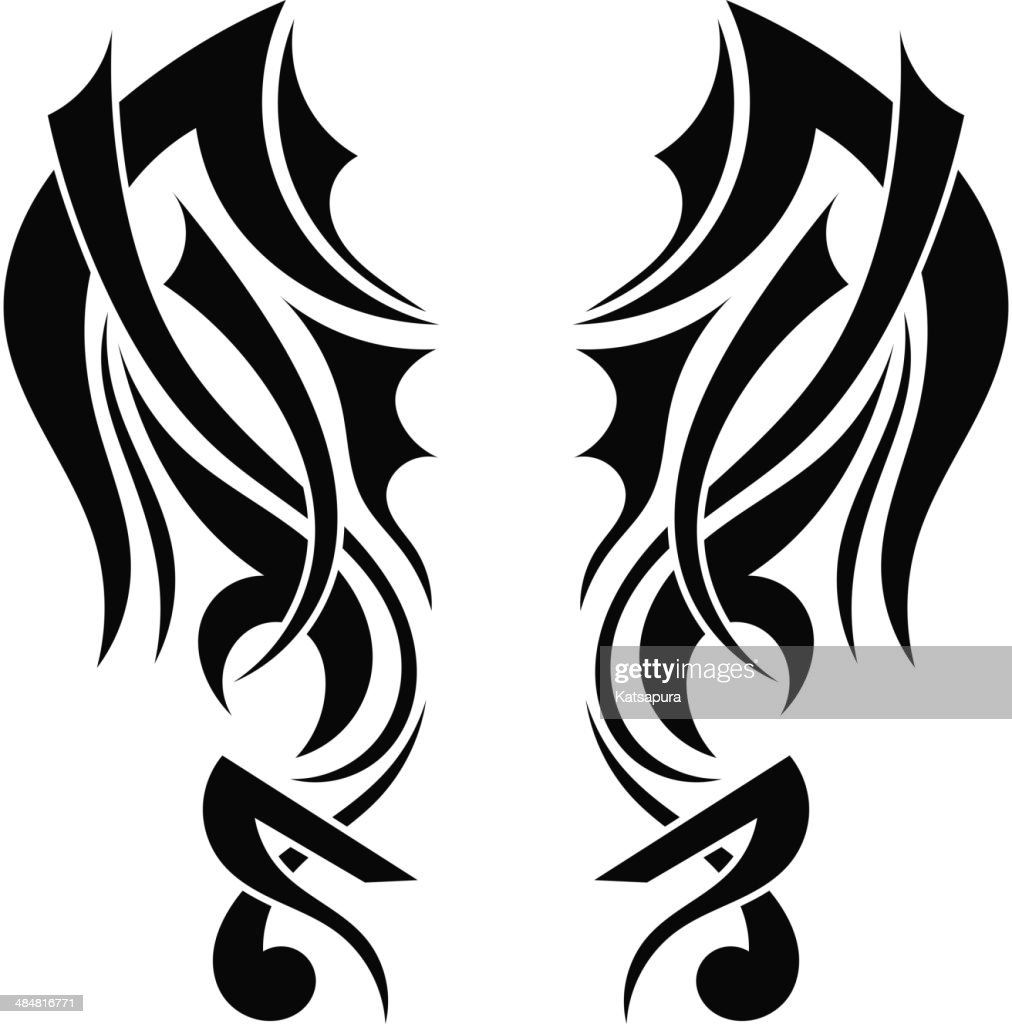 Graphic design Tribal tattoo wings
