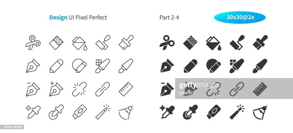 Graphic Design UI Pixel Perfect Well-crafted Vector Thin Line And Solid Icons 30 2x Grid for Web Graphics and Apps. Simple Minimal Pictogram Part 2-4
