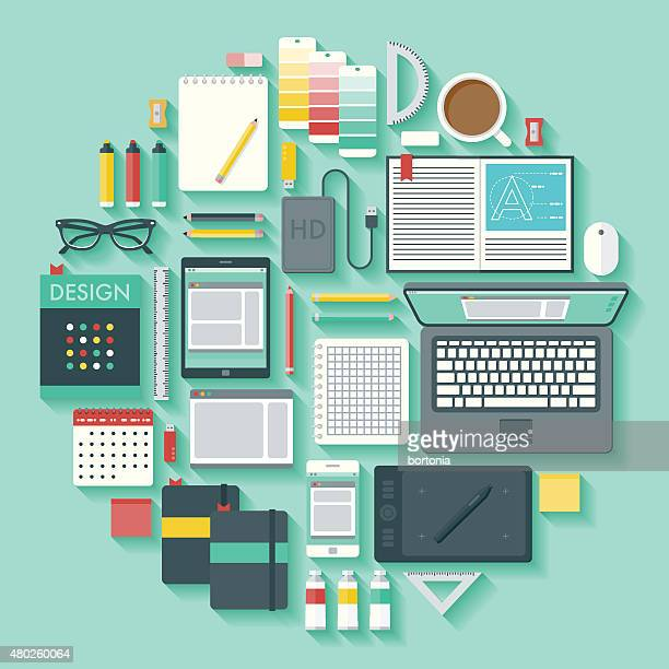 Vecteur Ensemble d'icônes de conception graphique