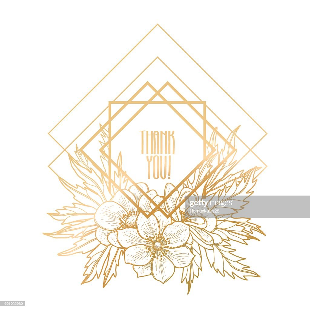 Graphic design with floral vignette