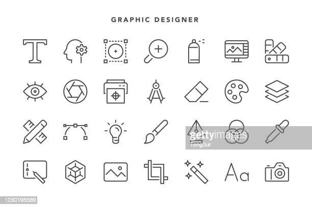 illustrazioni stock, clip art, cartoni animati e icone di tendenza di icone dei grafici - temi per la fotografia