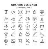 Graphic Designer - Regular Line Icons