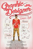 Graphic Designer Turkish style Retro Poster