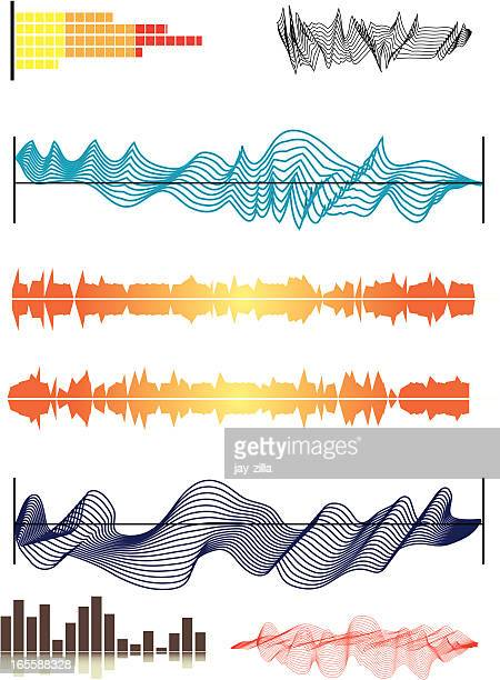 Éléments graphiques 2-bruit des vagues