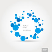 Graphic Elements - Abstract Graph - Blue