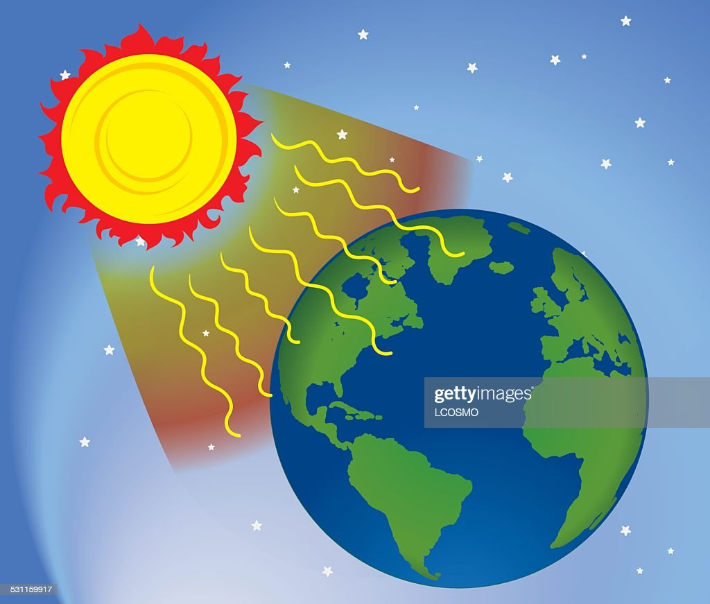 Graphic environment in nature, UV ultraviolet radiation