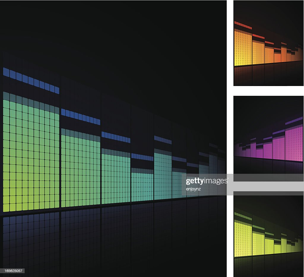 Graphic Equalizer stock illustration - Getty Images