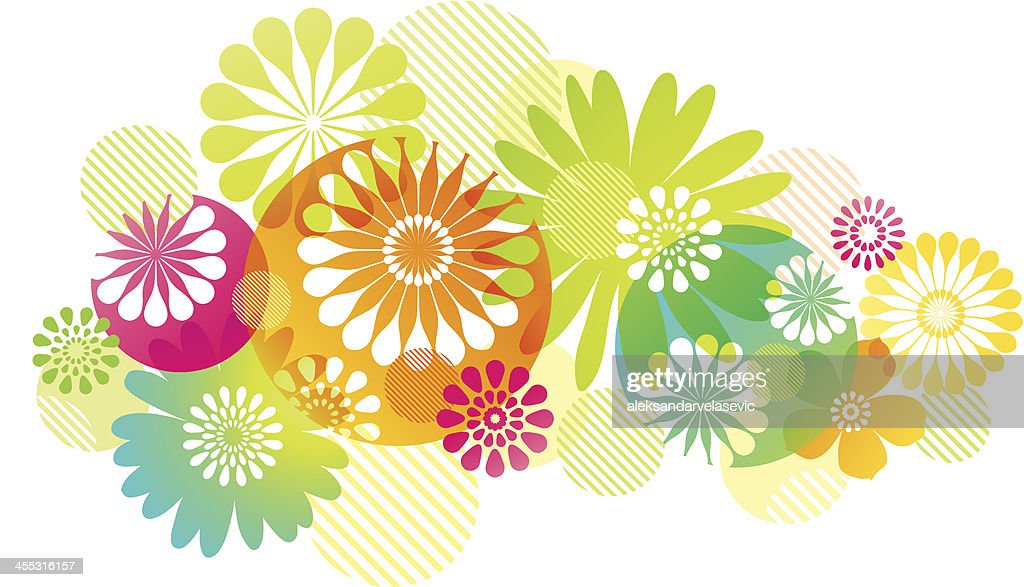 Graphic Flowers Background