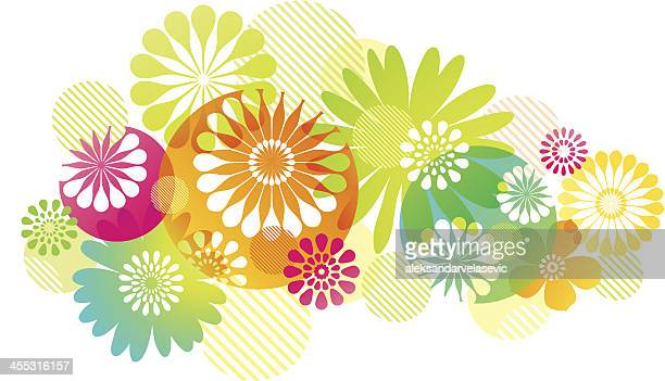 graphic flowers background - springtime stock illustrations