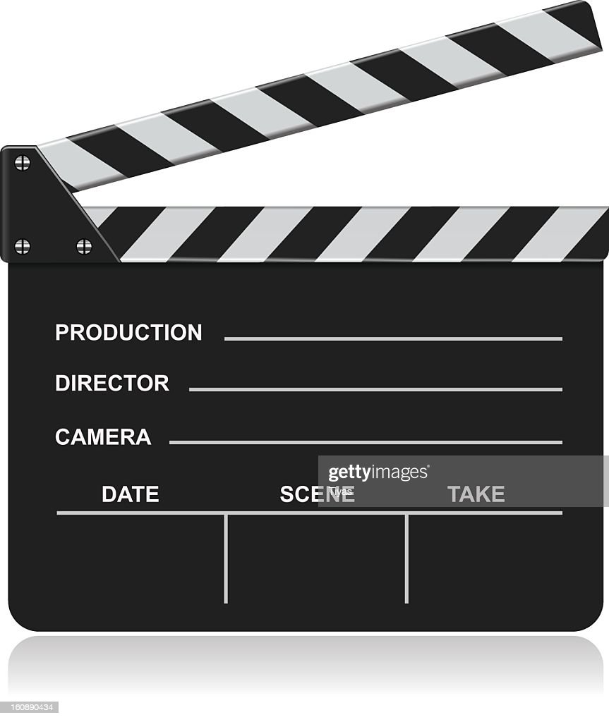 Graphic image of a blank film slate