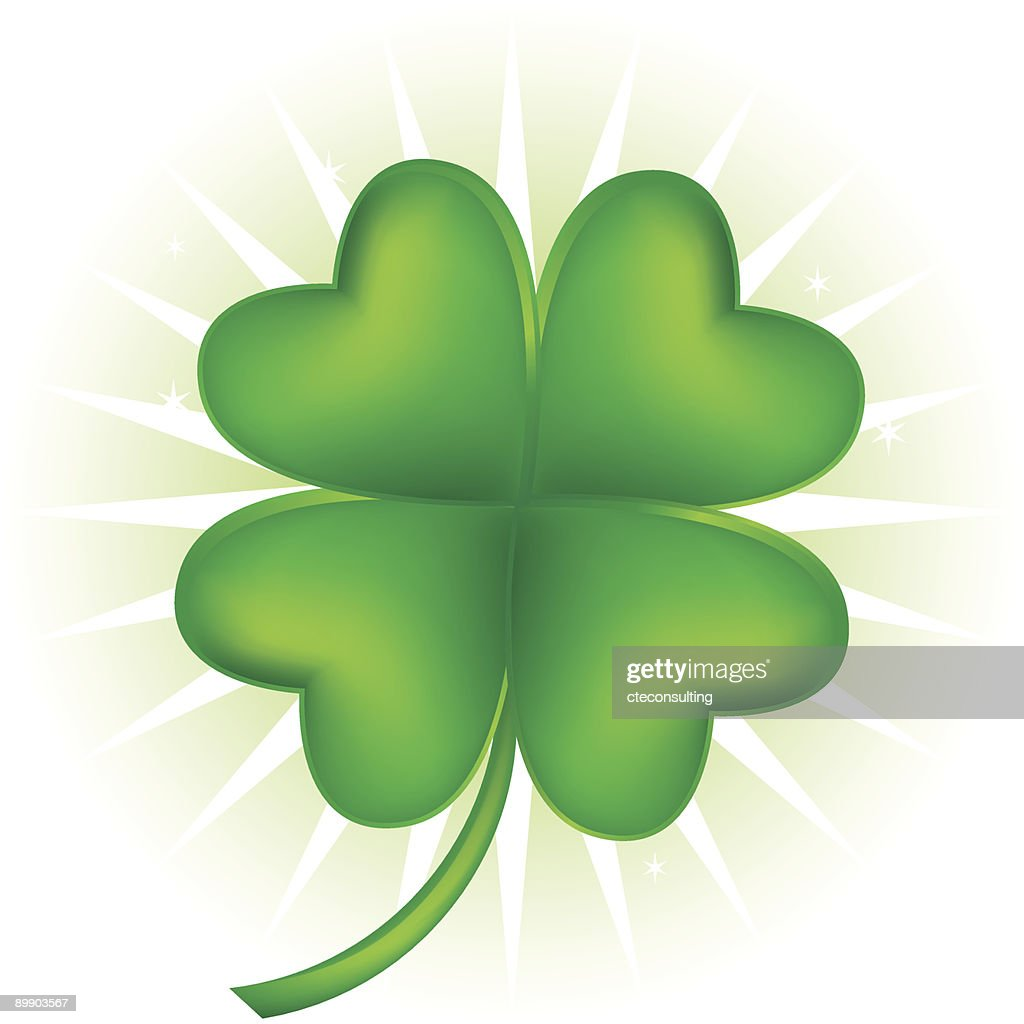 Graphic image of a four leaf clover