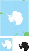 Graphic image of Antarctica in a map