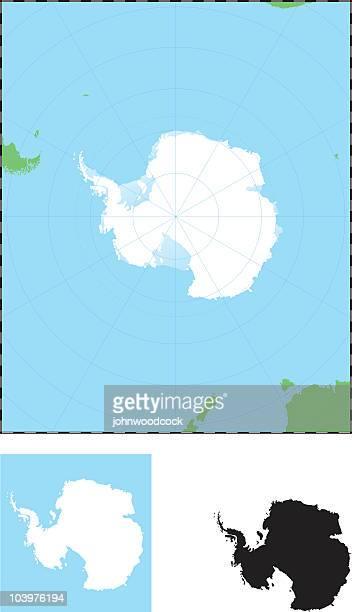 南極マップ - 南極点のイラスト素材/クリップアート素材/マンガ素材/アイコン素材