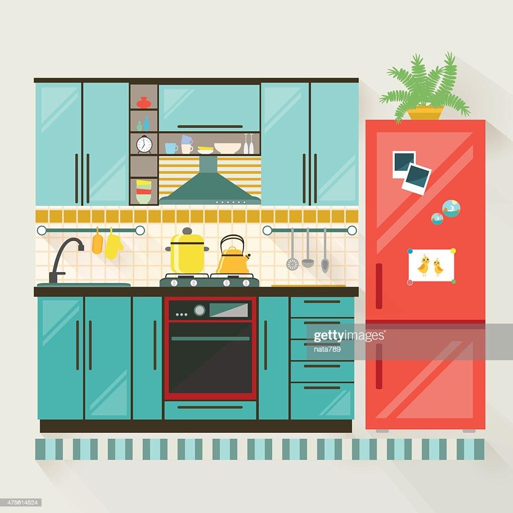 Graphic kitchen interior