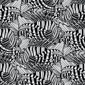 Graphic lion fish pattern