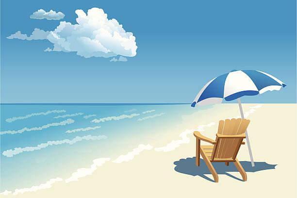 illustrations, cliparts, dessins animés et icônes de la mer - repos vacances
