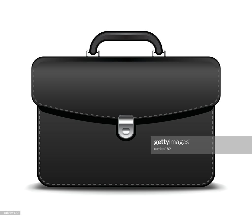 Graphic of a black briefcase sitting on a white surface