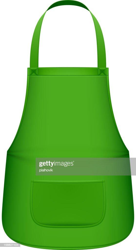 Graphic of a plain green kitchen apron