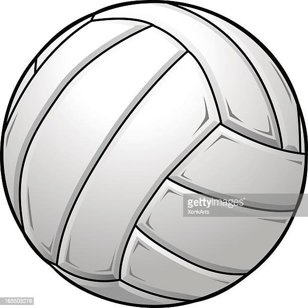A graphic of a white volleyball
