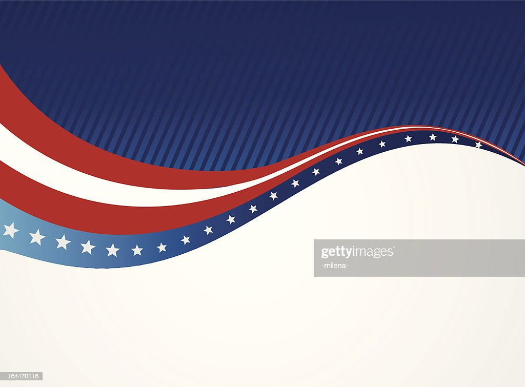 Graphic of an abstract American patriotic background