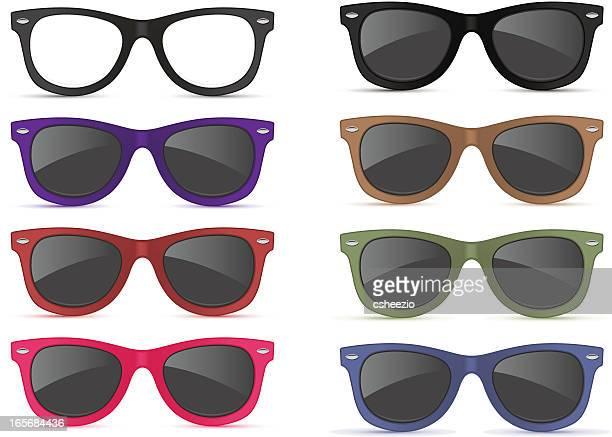 ilustraciones, imágenes clip art, dibujos animados e iconos de stock de gafas de sol - gafas de sol
