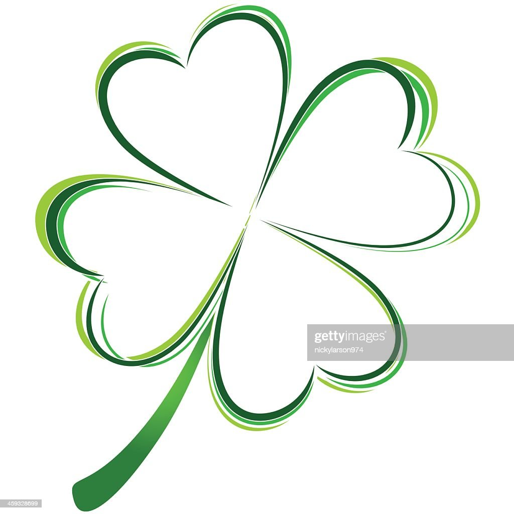 Graphic of green four leafed clover