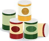 Graphic of pile of canned goods