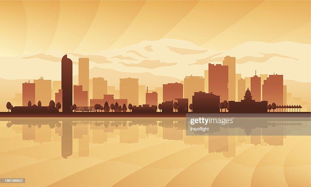 Graphic of the Denver city skyline
