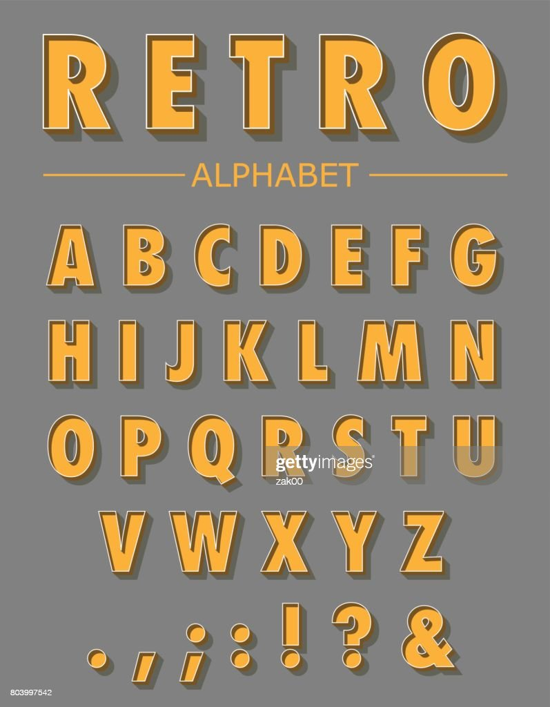 Graphic Retro Letters set