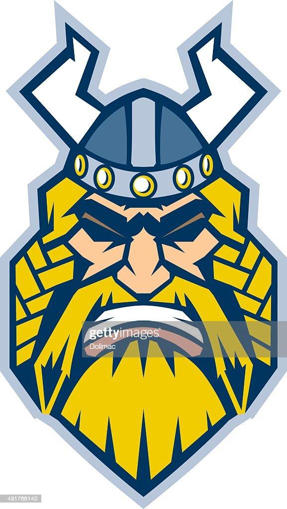 Graphic Stylized Viking Vector Illustration