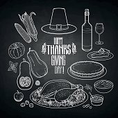 Graphic Thanksgiving day collection