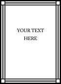 Graphic vector frame for text placement