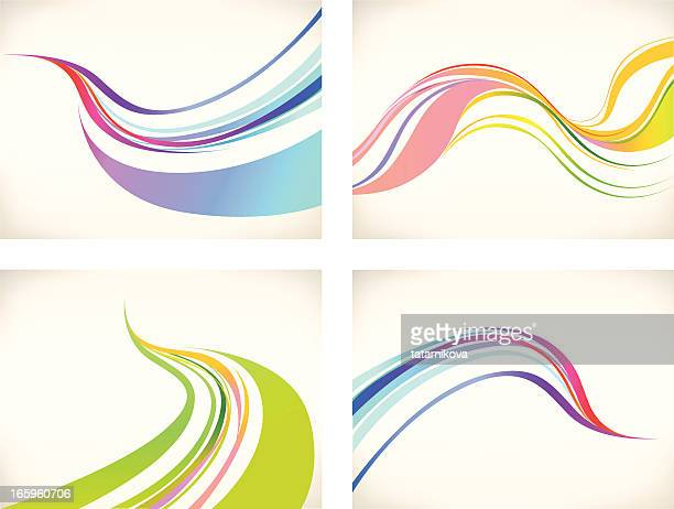 graphic wave background  set - flowing stock illustrations, clip art, cartoons, & icons