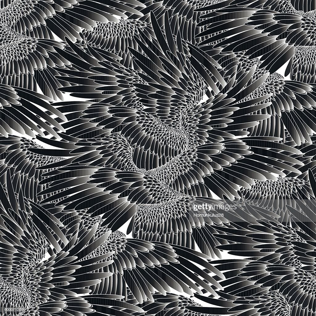 Graphic wings pattern