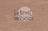 Graphic wood texture brown
