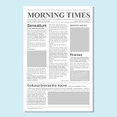 Graphical design newspaper journal template vector Paper tabloid on newsprint