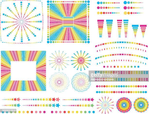 graphical rainbow objects.