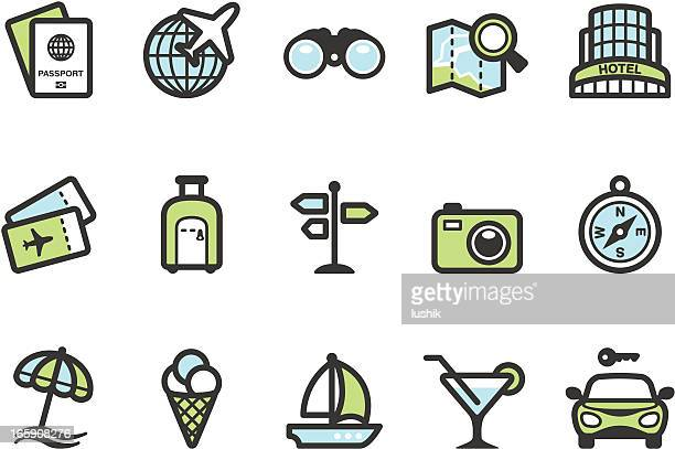 ilustraciones, imágenes clip art, dibujos animados e iconos de stock de graphico ubicaciones de iconos de viaje - alquiler de coche