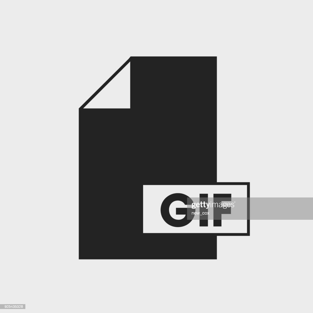 Graphics Interchange Format (GIF) file icon on gray background.