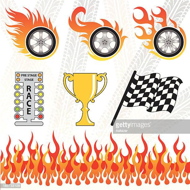 Graphics of Motorsport elements