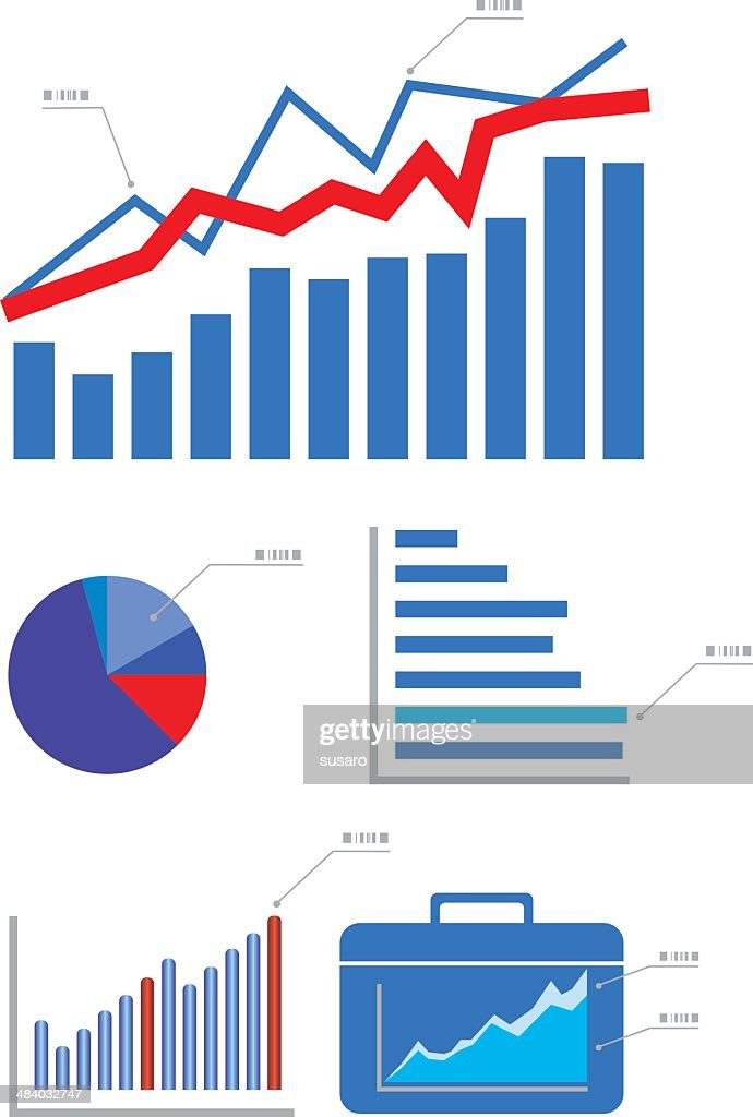 Graphs and Charts : stock illustration