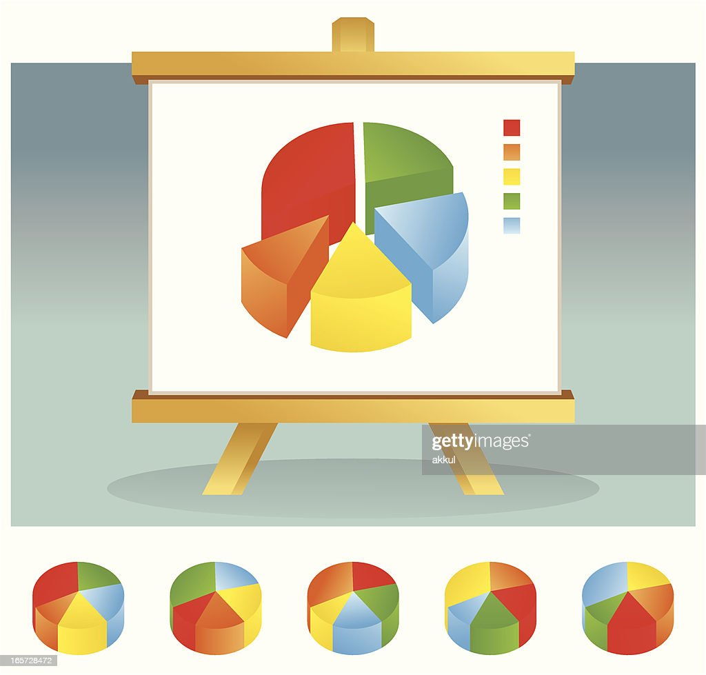Graphs Charts Pie Vector Art Getty Images