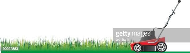 grass cut - lawn mower stock illustrations